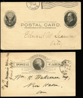 Lot 1685 [2 of 3]:1873-1931 twelve masonic postcards all with pre-printed and/or handwritten announcements and/or exhortations. Ten are postal cards, two from the 1920s have postage stamps affixed - one of these from the Pearl Harbour (Honolulu) Lodge No. 598. (12)