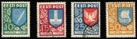 Lot 1411 [1 of 2]:1940 Relief set of 4 SG #152-55. Very fine CTO-quality cancels, cat £110. (4)