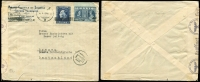 Lot 1301 [3 of 4]:1940-41 German Occupation 1940 (Oct) to 1941 (Dec), four envelopes to Germany with censor reseals. One is a nice commercial envelope of Agence Central de Journaux to Bremen, two are to a Dr Ilse Peek in Potsdam, one from a Dr. W. Wrede, another from a Dr. W. Peek with printed address of 'DEUTSCHES/ARCHAELOGISCHES INSTITUT/ATHEN'. Range of frankings incl optd types. (4)