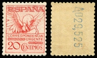 Lot 1857:1932 20c Express Perf 11½ with Control Number backprint SG #E522a (Mi #442.IB). Very fresh MUH, Cat £190 (as MLH).