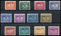 Lot 1451 [2 of 2]:1949-52 Complete set SG #D122-34. Fresh MUH all with expert's monogram (in the correct place) ex 25L MLH (small spot). (13)
