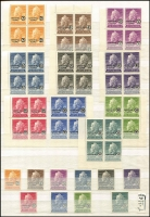 Lot 383 [1 of 5]:Accumulation in 4 stockbooks incl AAT, Christmas Island 1958 set in blocks of 4, 1968-70 Fish (2 sets), Cocos Island and Nauru, etc. (1,000s)