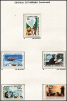 Lot 328 [2 of 3]:Territories in hingeless album, AAT to 1987, Christmas Island to 1986 & Cocos Island to 1987 all MUH. (Few 100)