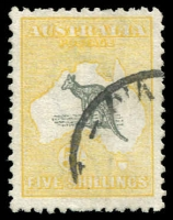 Lot 1274 [1 of 4]:Australia useful range on Hagners incl Kangaroos 1st wmk 6d & 9d, perf large 'OS' 3d, 4d & 6d, 2nd wmk 9d perf 'OS' and 2/- Parcel cancel, 3rd wmk odds to 5/- used, KGV mint range incl Single wmk 3d (MUH), SM wmk P13½x12½ 4½d (MUH), CofA 1/4d (MLH), KGV 'OS' ovpts 4d and 5d (MLH). Commems incl 1/- Anzac, 1/- Vic Cent (MLH), 'OS' ovpts 6d Kingsford Smith & 1/- Lyrebird both mint, etc. Pickings here. (59)