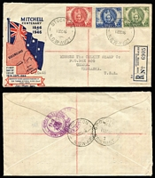 Lot 322 [4 of 5]:1940s-50s covers incl illustrated 1946 Mitchell and 1947 Newcastle, 1956 Olympics, plus a few later, etc. (17)