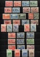 Lot 259 [3 of 5]:Pre-decimal collection with range of Kangaroos noted 5/- CofA CTO, 10/- 3rd wmk perf OS CTO, range of KGV issues incl S/Mult 4½d Die II CTO, 1/4d CofA CTO, 6d Engraved Kooka CTO, Kingsford Smith 'OS' set CTO, 5/- Bridge CTO, plus good range of AAT issues nice lot. (100s)