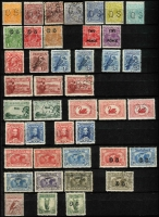 Lot 259 [4 of 5]:Pre-decimal collection with range of Kangaroos noted 5/- CofA CTO, 10/- 3rd wmk perf OS CTO, range of KGV issues incl S/Mult 4½d Die II CTO, 1/4d CofA CTO, 6d Engraved Kooka CTO, Kingsford Smith 'OS' set CTO, 5/- Bridge CTO, plus good range of AAT issues nice lot. (100s)