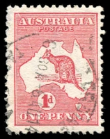 Lot 22:1d Red Die IIA variety Cracked electro - State II, BW #4(G)ka, perf fault at left, good example of this major flaw, Cat $600.