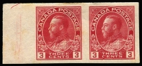 Lot 1169 [3 of 3]:1922-31 KGV Perforation Varieties comprising [1] 1923-24 1c, 2c & 3c imperf pairs and single of each SG #259-61; [2] 1924 2c P12 x imperf SG #262; [3] 1931 3c P12x8 SG #263. Some gumside imperfections noted for accuracy, very fresh appearance, cat £200+. Not often offered. (8 units)