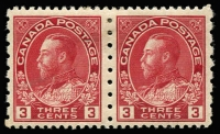 Lot 1169 [1 of 3]:1922-31 KGV Perforation Varieties comprising [1] 1923-24 1c, 2c & 3c imperf pairs and single of each SG #259-61; [2] 1924 2c P12 x imperf SG #262; [3] 1931 3c P12x8 SG #263. Some gumside imperfections noted for accuracy, very fresh appearance, cat £200+. Not often offered. (8 units)