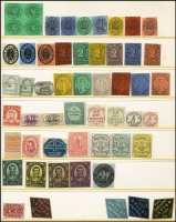 Lot 95 [2 of 3]:World: Interesting world array in album noted few Australia incl 1938 Anniversary labels, 1956 Olympics, range of modern USA replicas, etc. (100s)