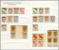 Lot 386 [3 of 9]:Collection in 11 stockbooks with smattering of States & Reich, range of Republic, Berlin, etc, rather sparce in places, a few pickings. (1,000s)