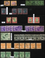 Lot 411 [4 of 11]:Collection comprising Selangor noted 1891 SG 47 mint (toned), 1900 1c on 5c (2 mint), 1941 $2 (2 mint), Trengganu incl 1921-41 8c (2 mint), useful lot. (100s)