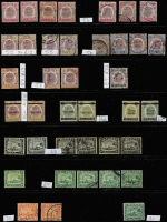 Lot 411 [5 of 11]:Collection comprising Selangor noted 1891 SG 47 mint (toned), 1900 1c on 5c (2 mint), 1941 $2 (2 mint), Trengganu incl 1921-41 8c (2 mint), useful lot. (100s)