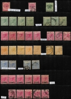 Lot 411 [6 of 11]:Collection comprising Selangor noted 1891 SG 47 mint (toned), 1900 1c on 5c (2 mint), 1941 $2 (2 mint), Trengganu incl 1921-41 8c (2 mint), useful lot. (100s)