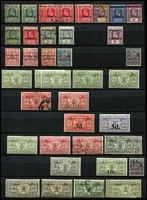 Lot 9:British Commonwealth in large stockbook with range 