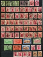Lot 37 [3 of 5]:New Zealand Pre-decimal collection incl imperf Chalons to 1/- (faults), perf Chalons to 1/- used, Sidefaces to 5/- used (faults), duplicated Pictorials to 5/-, 1907-11 5/- Official (mint), 1906 Christchurch set (faults), 1913 Auckland set (faults) duplicated range KGV incl Officials thereon virtually complete mixed mint & used incl 2d on 1½d Stars mint, no Health M/Ss. Condition does vary, a valuable lot. (100s)