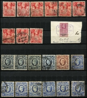 Lot 359 [3 of 9]:Collection in four albums noted QV 1d black, QV later issues to 10/- (faults), KEVII values to 5/-, duplicated KGV to 10/- used & KGVI to £1, 1948 Silver Wedding set (MUH), duplicated range of QEII issues to 2006, plus range of Postage Dues, Channel Isles, Regionals and Ireland. Condition is mixed. (1,000s)