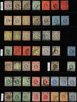Lot 476 [2 of 3]:1863-1997 Range in album incl 1863-71 QV 8c mint, 30c mauve mint (rounded corner), 1882-96 10c green part gum, 1885 20c on 30c (no gum), 1898 10c on 30c used, 1903 KEVII values to 50c, 1904-06 50c mint & $2 mint, thereafter range KGV & KGVI issues plus smattering of later. Condition does vary. (100s)