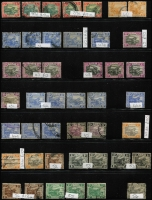 Lot 407 [2 of 5]:1900-25 range on Hagners incl 1900 10c used, 50c mint, $1 mint, 1901 $2 mint (tones), 1904-22 duplicated range noted 50c SG 47da mint, 1922-34 odds incl $5 (possible fiscal use), useful pickings. (160+)