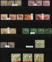 Lot 407 [5 of 5]:1900-25 range on Hagners incl 1900 10c used, 50c mint, $1 mint, 1901 $2 mint (tones), 1904-22 duplicated range noted 50c SG 47da mint, 1922-34 odds incl $5 (possible fiscal use), useful pickings. (160+)