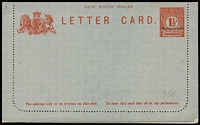 Lot 311 [1 of 4]:Collection of Specimen overprints on envelopes (7) and 1897 Lettercard, all fine mint. (8)