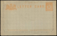 Lot 312 [1 of 9]:Collection incl range of Lettercards, Postcards, Envelopes, noted few Specimen Opts, mixed mint and used, condition does vary but useful lot. (43)