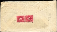 Lot 602 [2 of 2]:1919 (May 29) OHMS window faced cover sent to USA with KGV 1½d black brown perf 'OS' tied by Sydney cancel and taxed in USA with 'Due 6 cents' handstamp & pair of USA 3c Postage Dues affixed to reverse. Nice cover.