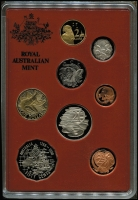 Lot 109 [1 of 5]:Australia: Proofs sets 1983 & 1984 (no outer foams), 1985,1988 & 1989 as issued. (5)