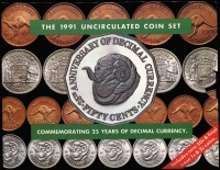 Lot 110 [3 of 3]:Australia: Uncirculated carded Year sets comprising 1984 to 1988, 1991, 1994 & 1998. (8)