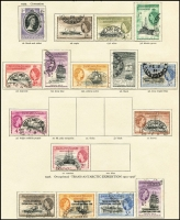 Lot 12 [2 of 4]:British Commonwealth New Age British Empire QEII album with useful range mainly short sets. (100s)