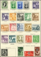 Lot 12 [3 of 4]:British Commonwealth New Age British Empire QEII album with useful range mainly short sets. (100s)