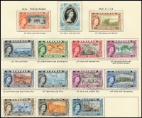 Lot 12 [1 of 4]:British Commonwealth New Age British Empire QEII album with useful range mainly short sets. (100s)