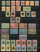 Lot 8:Montenegro & Serbia in stockbook with useful 