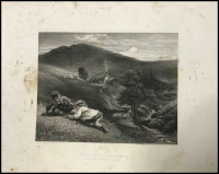 Lot 1039 [2 of 2]:Albums: of 'The Dowie Dens o' Yarrow', 1860 Publication with six plates each and 'Auld Lang Syne' by Robert Burns printed in 1859 with five plates plus four other plates. Condition is very mixed. (2)
