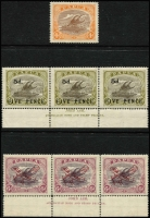 Lot 6851 [3 of 3]:1906-30 Collection incl useful range of Papua Ovpts noted 2/6d mint, 1907-10 2/6d, SG 46 mint, good range of later Bi-colours with values to 1/3d mint, few varieties noted 1911-15 Mono colours 2/6d used, 1917 Penny Opts (2 sets mint), 1930 6d Air Ash imprint strip of 3 mint, perf 'OS' oddments incl 1/- used, opt 'OS' values to 6d mint, some duplication. Nice lot viewing will reward. (few 100)