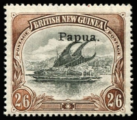 Lot 6851 [1 of 3]:1906-30 Collection incl useful range of Papua Ovpts noted 2/6d mint, 1907-10 2/6d, SG 46 mint, good range of later Bi-colours with values to 1/3d mint, few varieties noted 1911-15 Mono colours 2/6d used, 1917 Penny Opts (2 sets mint), 1930 6d Air Ash imprint strip of 3 mint, perf 'OS' oddments incl 1/- used, opt 'OS' values to 6d mint, some duplication. Nice lot viewing will reward. (few 100)