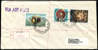 Lot 1460 [1 of 7]:1990s-2000s Commercial mail, many Registered and larger size envelopes. Useful lot. (59)