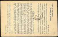 Lot 1874 [2 of 2]:1897 usage of 1c Jefferson card from San Francisco to Geelong Australia with fine strikes of 5 CTMS T & T 1d in oval handstamps, fine taxed item.