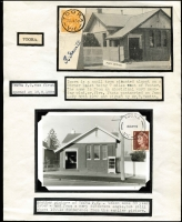 Lot 1374 [2 of 7]:Photographs of Post Offices: Small group comprising Richmond South, Panton Hill, Omeo, Maldon, Kaniva, Sheridan, Toora (2), Sydney Flat together with early GPO Sydney. (10)