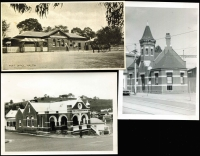 Lot 1374 [5 of 7]:Photographs of Post Offices: Small group comprising Richmond South, Panton Hill, Omeo, Maldon, Kaniva, Sheridan, Toora (2), Sydney Flat together with early GPO Sydney. (10)