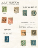 Lot 639 [4 of 4]:Collectors odds in album incl useful Victoria noted 3d Half-Length P12, 1885 Stamp Duty Opts to 2/- plus forgery, WA Imperf Colour trials to 1/- (5), and Spiro forgeries to 6d (6), NSW Laureates 2d (3), 6d & 8d forgeries, SA, etc. (100s)