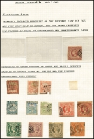 Lot 642 [2 of 3]:Collection remainders incl NSW 3d Sydney Views (3, faults), NSW forgeries, Victoria handy range of Emblems, Postage Dues, some fiscals, etc. Viewing recommended. (100s)