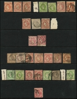 Lot 642 [3 of 3]:Collection remainders incl NSW 3d Sydney Views (3, faults), NSW forgeries, Victoria handy range of Emblems, Postage Dues, some fiscals, etc. Viewing recommended. (100s)