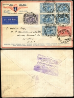Lot 868 [3 of 4]:1930s Group of covers incl 1931 All the Way, 1931 Melbourne-Hobart, 1934 Autogiro Portland card, 1936 Renmark-Adelaide, etc. (15)