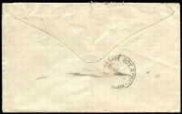 Lot 607 [2 of 2]:1930 cover from Devonport to Melbourne franked with Tasmanian 2d Stamp Duty and with 'T4d' in oval handstamp and 2d Postage Due pair tied by Private Box Room Melbourne cds 11 AUG 30. Attractive cover.