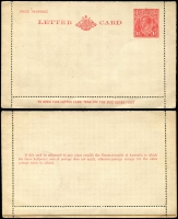 Lot 743 [1 of 4]:1917 Onwards accumulation incl used 1917 Reply barred out (damaged), range of Kangaroo & KGV Scene cards used, KGV 1½d red, 2d red unused (2) plus good range unused QEII cards. Condition varies. Useful lot. (30)