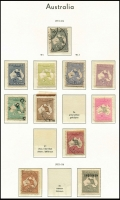 Lot 669 [3 of 6]:1913-1974 Collection in Lighthouse hingeless album noted First Wmk odds to 1/- used, 2nd Wmk 2d, 2½d & 6d *MLH & 2/- used, 3rd Wmk incl 2/- brown used, 10/- perf 'OS' CTO, £1 Specimen (tones) & £2 used (tones), Cof A Wmk 5/- CTO, KGV issues mixed mint & used, 6d Engraved Kooka mint, KGV issues mixed mint & used, 1928 Kooka M/sheet (faults), good range of commems incl 1932 5/- Bridge used, QE II Period incl £2 Navigator mint, Decimals mixed mint and used to 1974. Condition is mixed, useful lot. (100s)
