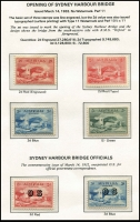 Lot 678 [4 of 7]:KGV-QEII Collection on hingeless pages incl KGV Single Wmk 1d red Dies II & III and values to 1/4d mint, SM Wmk Perf 14 values to 1/4d mint, SM Wmk Perf 13½x12½ values to 1/4d mint, CofA Wmk values to 1/4d mint, KGV 'OS' Optd set MUH, 1914 6d Kooka mint, 1928 Kooka M/sheet (heavy tone), then mostly complete range of commems mainly mint incl 1932 5/- Bridge, KGVI issues incl Robes thick paper set MUH, & thin paper set (£1 MUH), Robes Specimen set (Fake?), Arms set and Specimen set mint, QEII issues virtually complete incl few Postage Dues and BCOF set mixed mint & used. A valuable lot, viewing recommended. (100s)