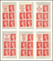 Lot 654 [2 of 3]:1966-70s Collection incl set of six 4c QEII booklet panes, plus set of six singles with tabs, set of six 5c on 4c booklet panes, set of Decimal Navigators opt 'SPECIMEN', set of 5c & 6c Famous Australians panes, set of 7c Prime Minister panes. etc. (53)